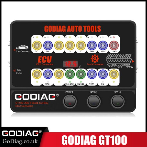 [Ship from EU UK] GODIAG GT100 OBDII 16PIN Protocol Detector Breakout ECU Connector OBDII BreakOut Box