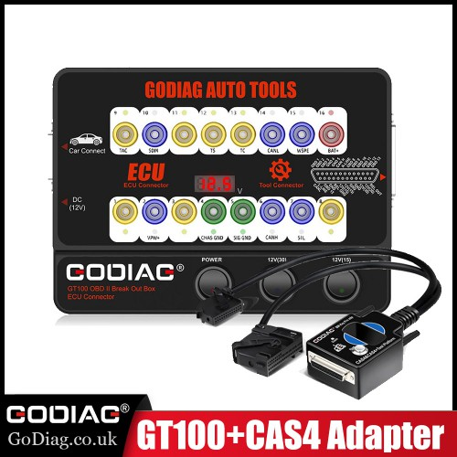 (EU Ship No Tax) GODIAG BMW CAS4 CAS4+ Test Platform Plus GT100 AUTO TOOLS OBD II Break Out Box ECU Connector