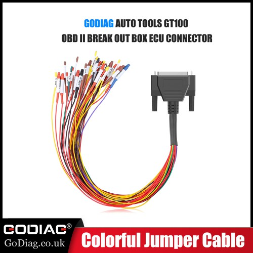 Colorful Jumper Cable DB25 for GODIAG GT100 OBD2 Breakout Box